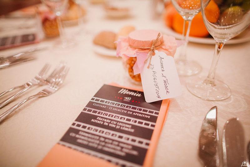 servicii creative nunta meniu personalizat