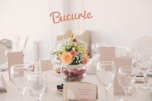Consultanță pentru nuntă. Aranjament floral Bucurie Iza&Ionut