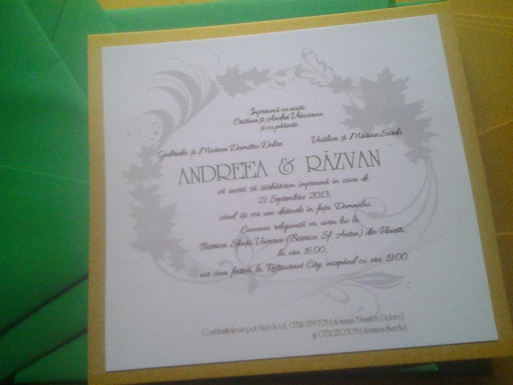 invitatie Andreea&Razvan