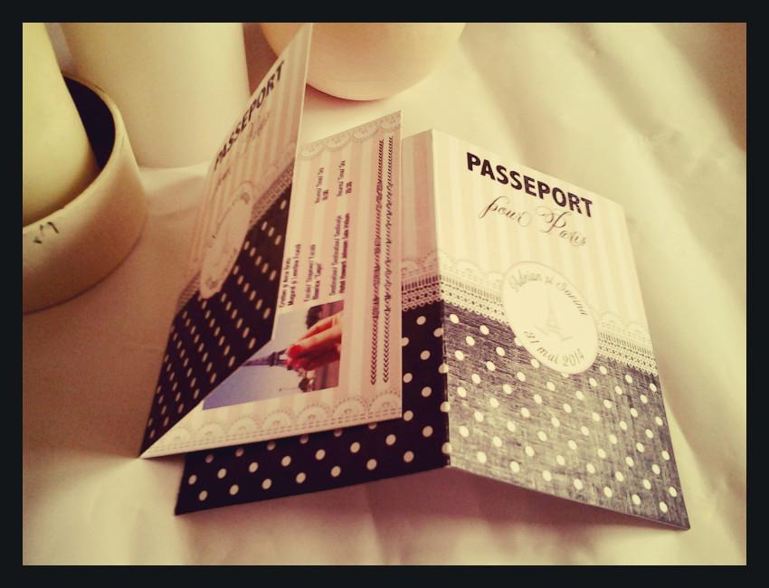 Invitatie nunta Pasaport catre Paris