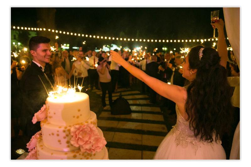 artificii de brad la tort - Palatul Mogosoaia - wedding planner victorita axinescu