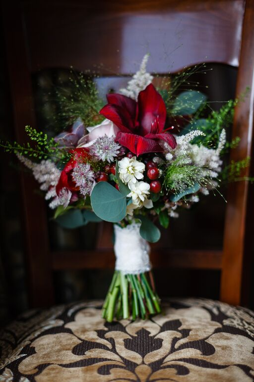 buchet de mireasa amaryllis - eventi bianchi